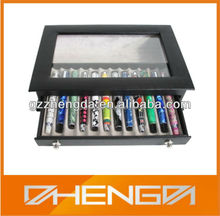 Hot!!! Customized Made-in-China Colorful Pens Delicate Packaging Leather Box(ZDL13-P009)