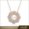 2015 ouxi de moda de la perla de oro de joyería hecha con austriaco cyrstal 11317-1