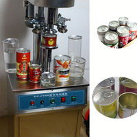 stainless steel semi automatic manual tin can sealing machine for industry