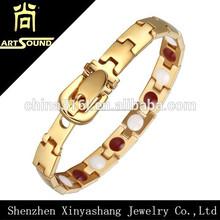 4 in 1 base in acciaio inox braccialetto magnetico con oro viso