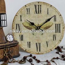 antique wooden wall clocks, wooden clocks butterfly, wooden wall craft wholesale