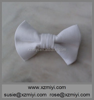 Wholesale various designs white silk/polyester cheap bow tie for boys