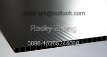 PP/PE corrugated black plastic sheet floor protection board
