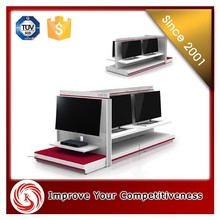 Modern TV stand showcase, LCD TV cabinet with showcase, display shelf/showcase for famous home set