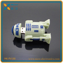 2015 New arrival!!! China manufacturer lovely star wars shape PVC/ silicone/ rubber usb pen drive