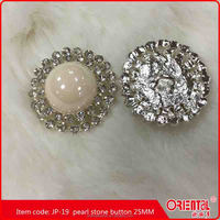 crystal button for women's fur coat