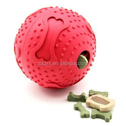 Factory custom new product custom soft rubber bouncy pet toy ball/2015 newest style Snack Pet Ball/chew pet ball for dog