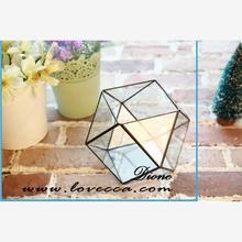 Wholesale fashion outdoor design gold geometric glass light bulb vase