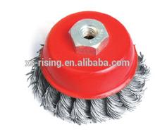 tazón rueda cepillo rizado cable y trenzado cable