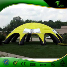 2015 Pringting Logo Yellow Outdoor Champing Bubble Tent Inflatable Lawn Tent