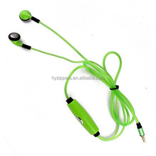 cheap glowing zipper earphone headphone with mic noise isolating wholesale for apple