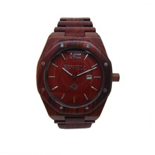 100% natural wood watch red sandal wood unisex style Japan movement water proof natural wood watch