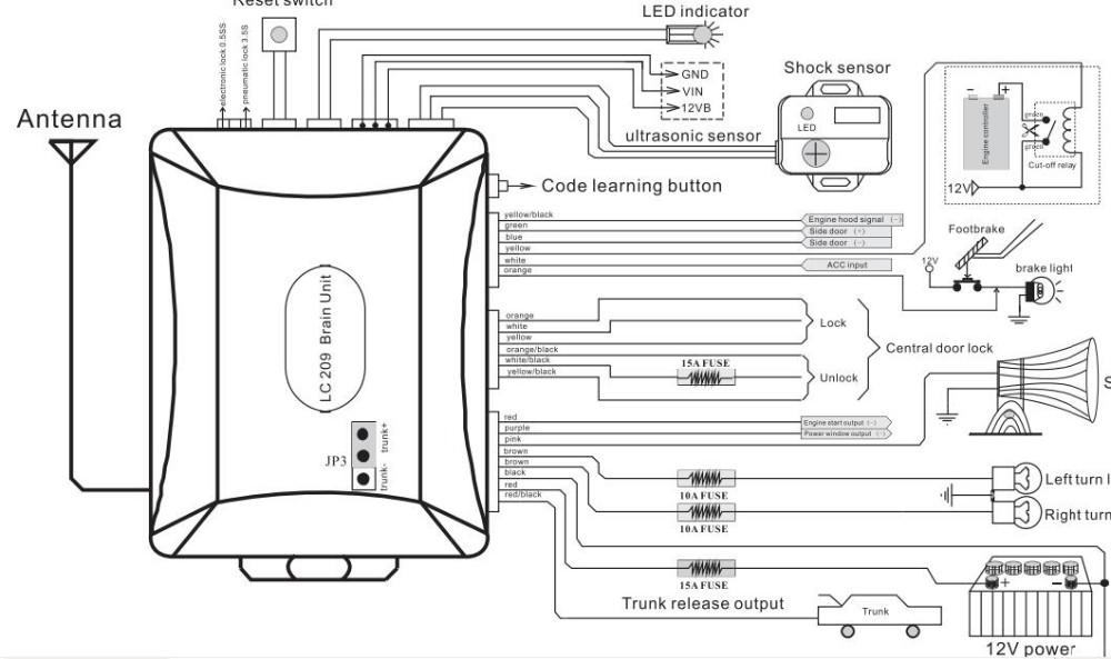 Spy one way car alarm system1 way magic car alarm with shock wiring diagram lc209g cheapraybanclubmaster Gallery