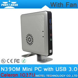 4G RAM 128G SSD N390M Celeron 1037U mini pc wall-mounted thin client with ultra-low power consumption