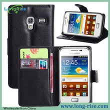 Wholesale With Card Holder Wallet Leather Flip Cover for Samsung Galaxy Ace Plus S7500