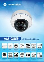 Amovision Q1159 Onvif 2MP H.264 PTZ motorized Zoom vari focal fixed lens CCTV camera