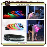 Fashion Transparent Silknet Flashing Led Safety Dog Collar