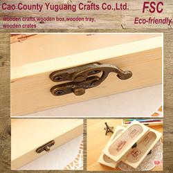 pine wooden pen box,wooden pen box with latch,cheap pen box