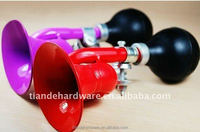 Colourful steel air horn/bicycle accessory/portable steel bent horn/larger sound/classical bike horn