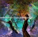 Abstract Acrylic craftwork and acrylic artwork and acrylic painting and acrylic gift