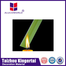 Alucoworld brushed finish fireproof building aluminum composite panel(acp) for new facade materials