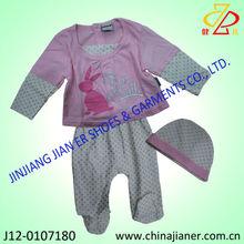2014 nuevo estilo de algodón ropa de bebé trajes de otoño