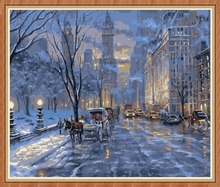 home decor snow night picture by numbers GX7849