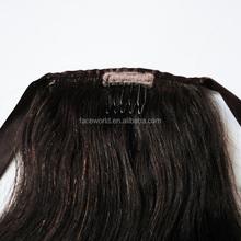 Factory wholesale ponytail popular wrap around human hair ponytail