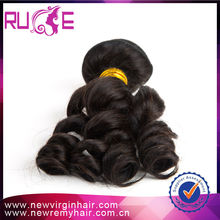 Ruimei 2015 100% Unprocessed 6A Grade Double Weft Raw Cheap Raw Factory Price Loose Curl Indian Hair Bands
