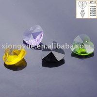 Loose faceted heart beads for fashion jewelry