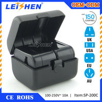 Leishen Brand Use full copper/new material PC made multinational adapter for electronic gift