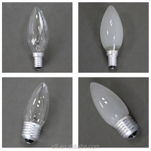 china factory price candle clear frosted bulbs