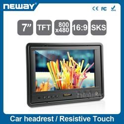 Hot 7 inch tft lcd car monitor lcd vga input 7 inch car monitor