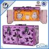 Customed Chinese style purple beautiful aluminum box bone China gift case storage case