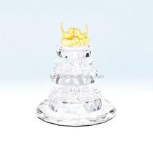 crystal birthday cake model for birthday gift
