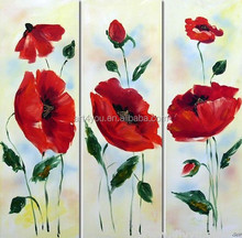 Hot selling beautiful flower designs fabric painting