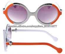 Gafas de sol al por mayor China con la lente redonda en marco del metal