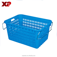 Turnover box, plastic fruit crate,nestable and stackable plastic vegetable crate