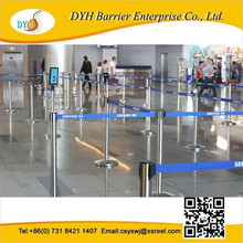 Queuing order control and directional flow of conducting necessary queue facilities telescopic belt barriers