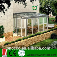 PNOC aluminum profile glass balcony sunroom/greenroom/house/garden rooms/warm room