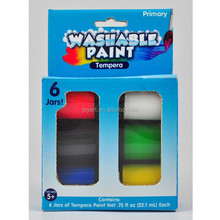 22ml Non-toxic water-based washable tempera paint