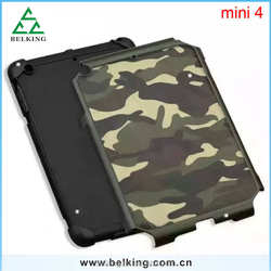 Shockproof Case For Ipad Mini 4 Rubber TPU With Back Camouflage Hard Case