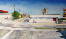 Pintura al óleo del paisaje