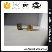 Brass Compression forged plug nipple for copper pipe