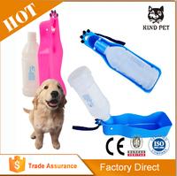 Foldable dog water bottle