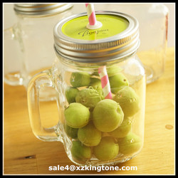 custom airtight mason jar juice glass jar with seal cover jars glass mug cheap wholesale