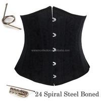 full 24 sprial steel boned corset plus size S-6XL waist training underbust corselet