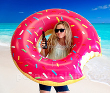 2015 best selling pink swimming donut for adults donut inflatable pool toy