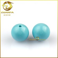8MM Blue polish turquoise bead loose factory prices turquoise stone beads