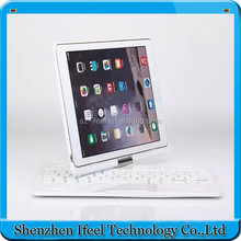 Bluetooth keyboard on aluminum alloy case with shaft for iPad Air2+Protect Cover